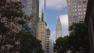 NYC Street Chrysler Building Free Stock Footage. Download our free HD video footage, or purchase high quality 4K clips. Royalty Free licensing.
