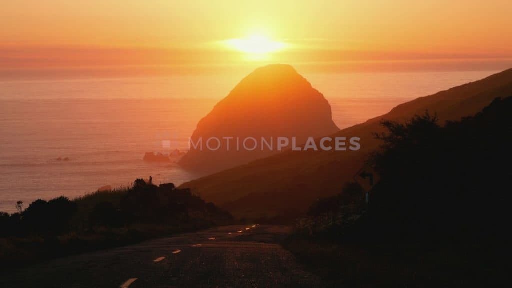 Sunset on California's Lost Coast Stock Footage