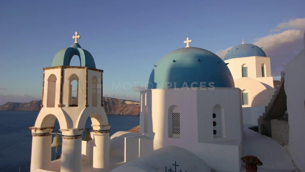 Santorini Blue Domes Stock Footage. Download our free HD video footage, or purchase high quality 4K clips. Royalty Free licensing.