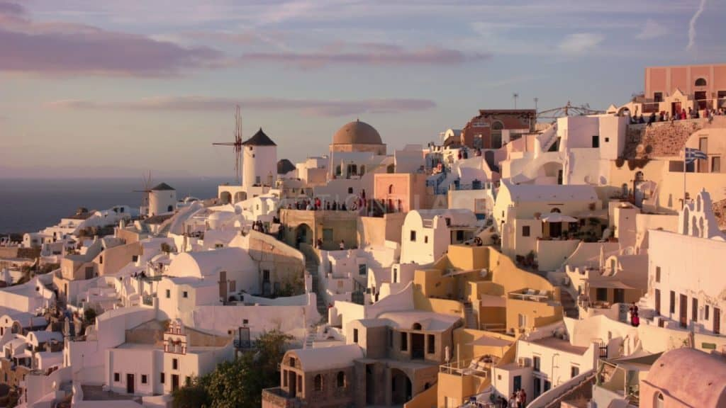 Santorini Golden Hour Free Stock Video Footage. Download our free HD video footage, or purchase high quality 4K clips. Royalty Free licensing.