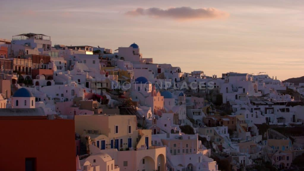 Santorini Village Sunset Free Stock Video Footage. Download our free HD video footage, or purchase high quality 4K clips. Royalty Free licensing.
