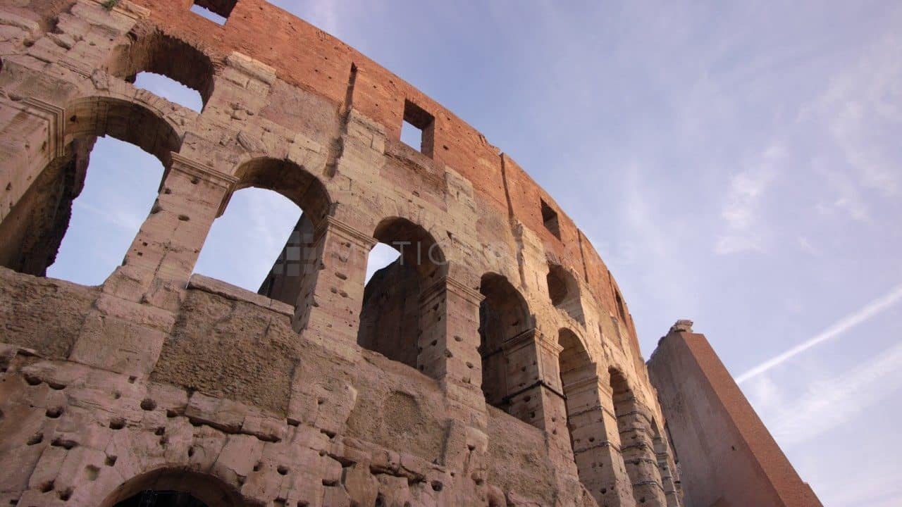 Rome Colosseum Golden Hour Stock Footage