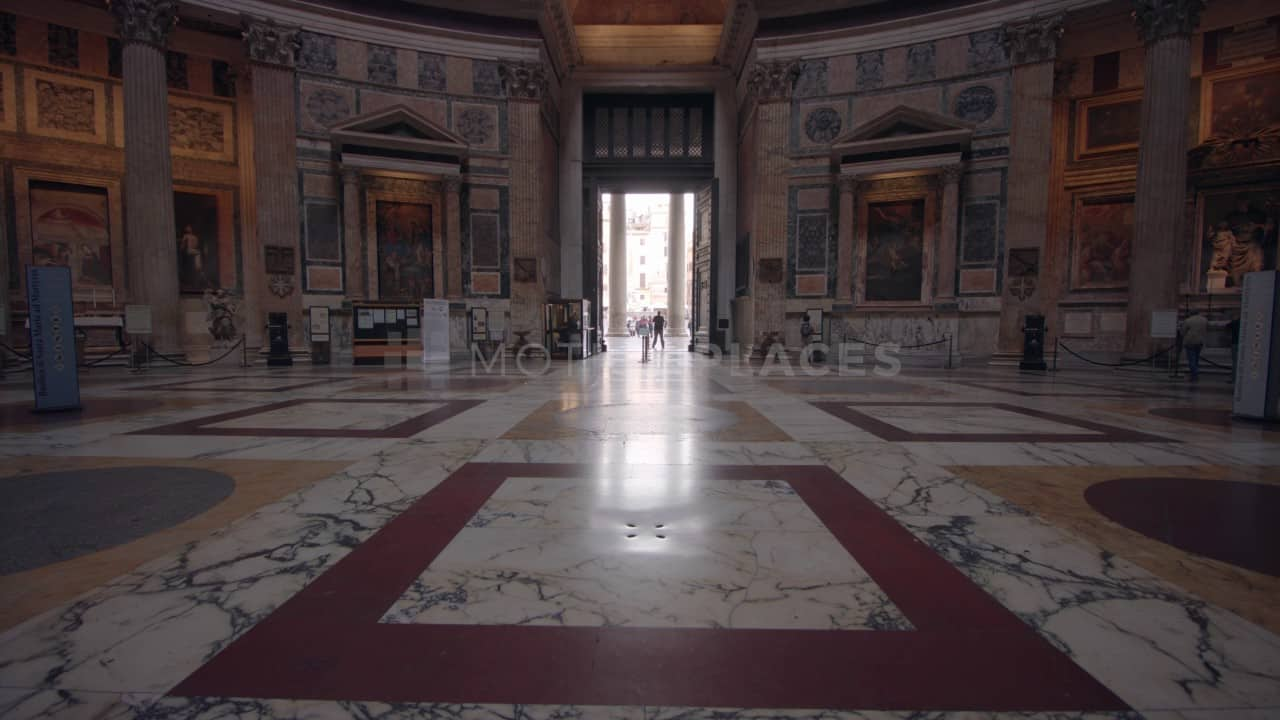 Rome Pantheon Interior Stock Footage Motion Places
