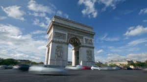 Paris Arc de Triomphe Timelapse Stock Footage. Download our free HD video footage, or purchase high quality 4K clips. Royalty Free licensing.