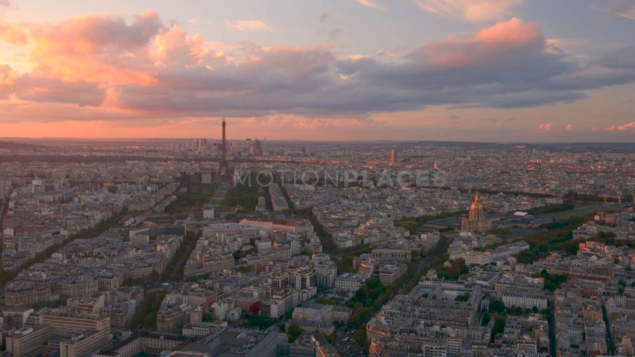 Paris Sunset Timelapse Free Stock Footage