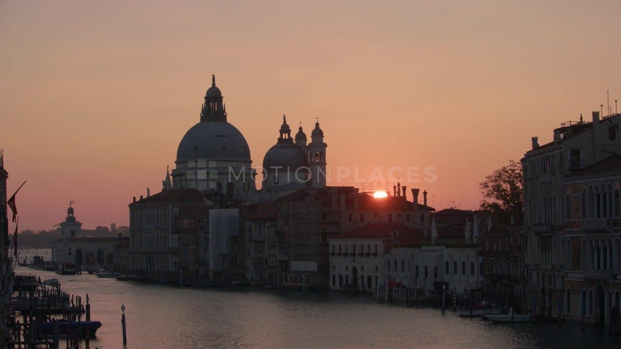 Venice Grand Canal Sunrise Free Stock Footage