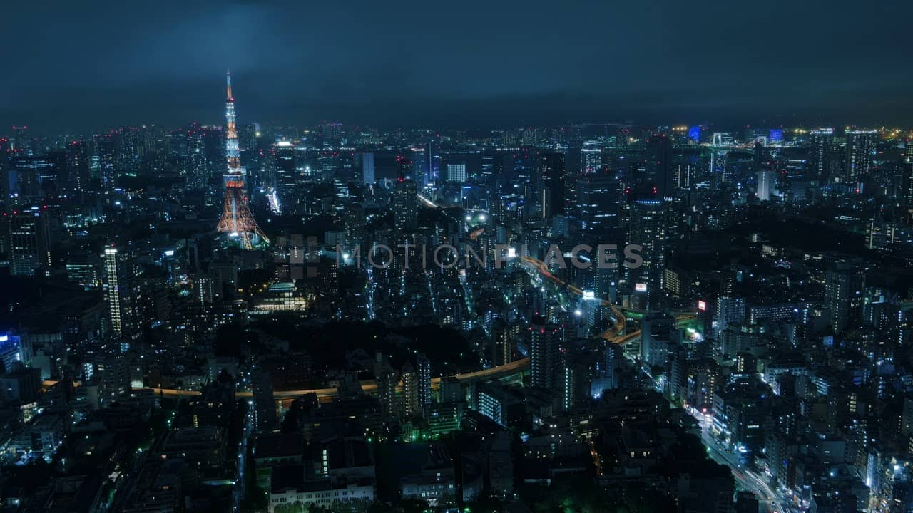 Tokyo Night Skyline Stock Footage by Motion Places. Download our free HD video footage, or purchase high quality 4K clips. Royalty Free licensing.