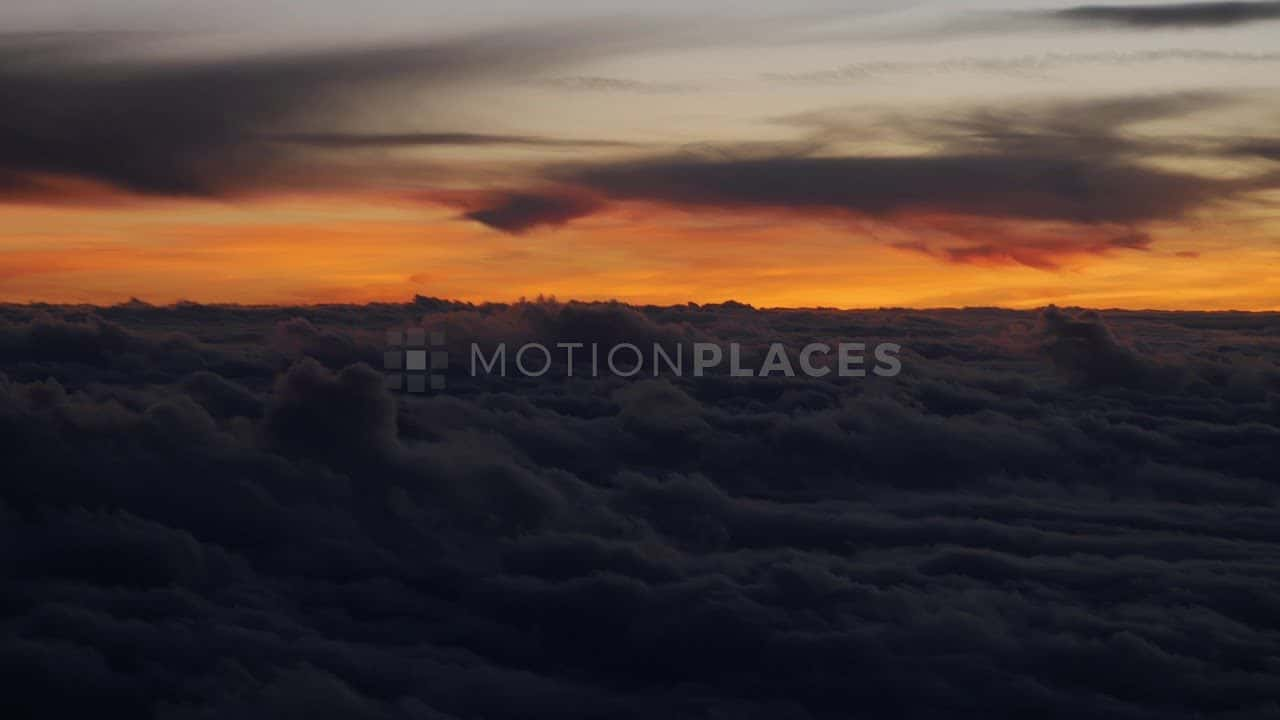 Aerial Sunset Clouds Stock Footage