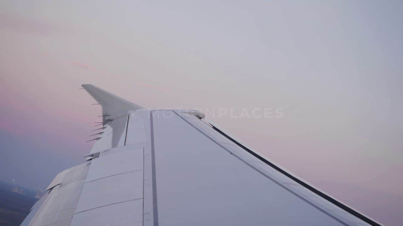 Airplane Wing Takeoff Stock Footage
