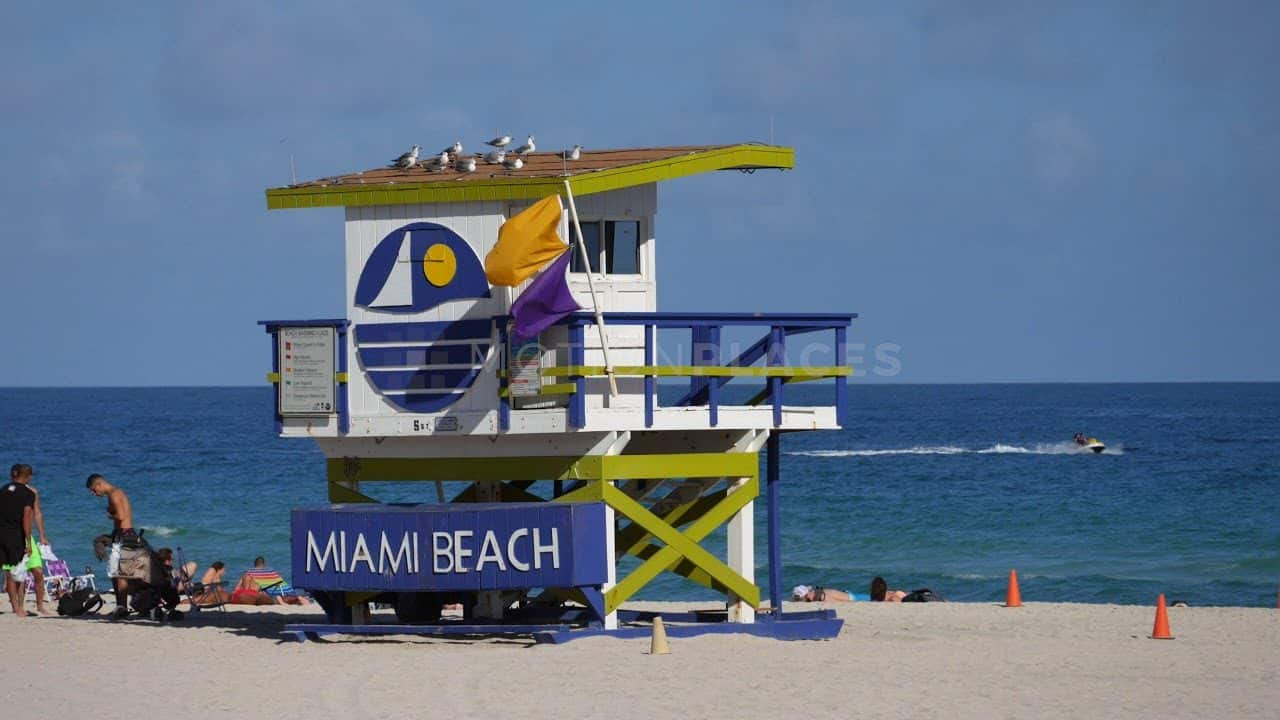 Miami Beach Lifeguard Stand Stock Footage by Motion Places. Download our free HD video footage, or purchase high quality 4K clips. Royalty Free licensing.