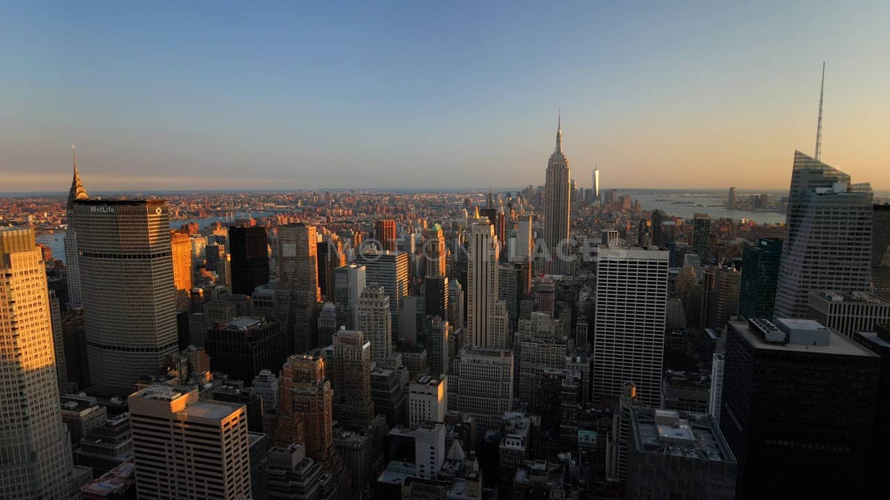 NYC Sunset Cityscape Stock Footage by Motion Places. Download our free HD video footage, or purchase high quality 4K clips. Royalty Free licensing.