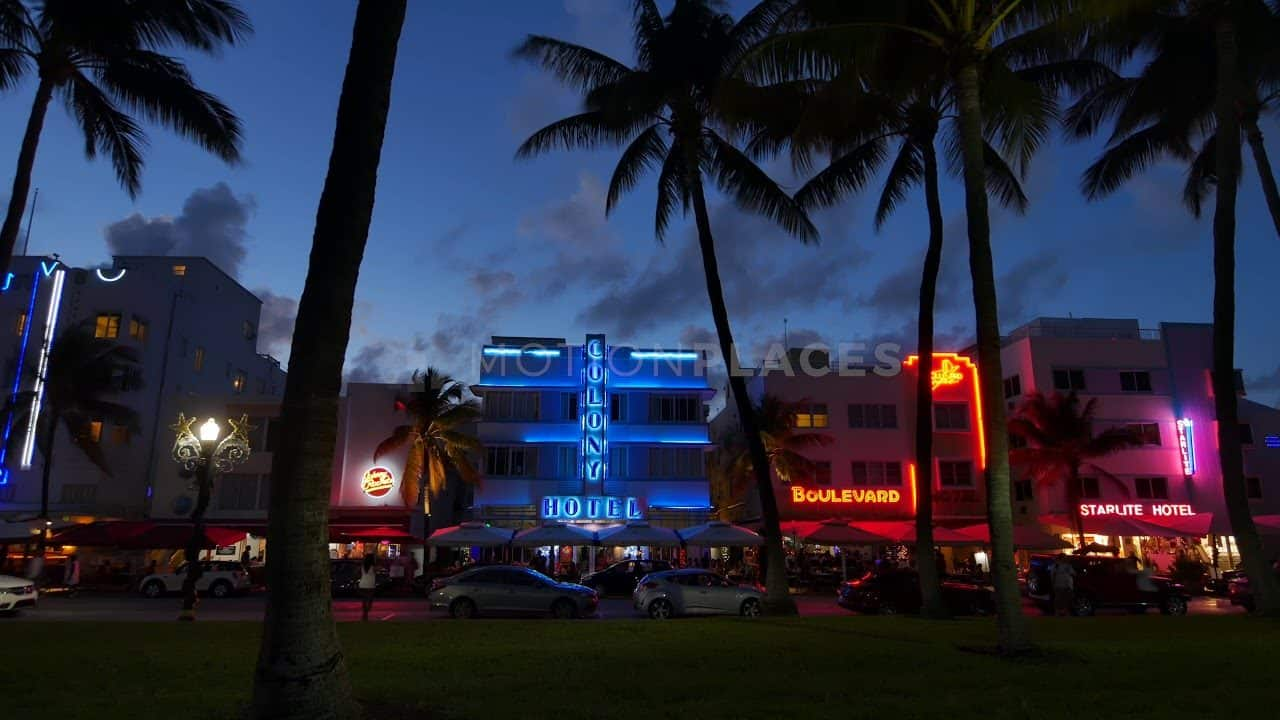 South Beach Night Timelapse Stock Footage by Motion Places. Download our free HD video footage, or purchase high quality 4K clips. Royalty Free licensing.
