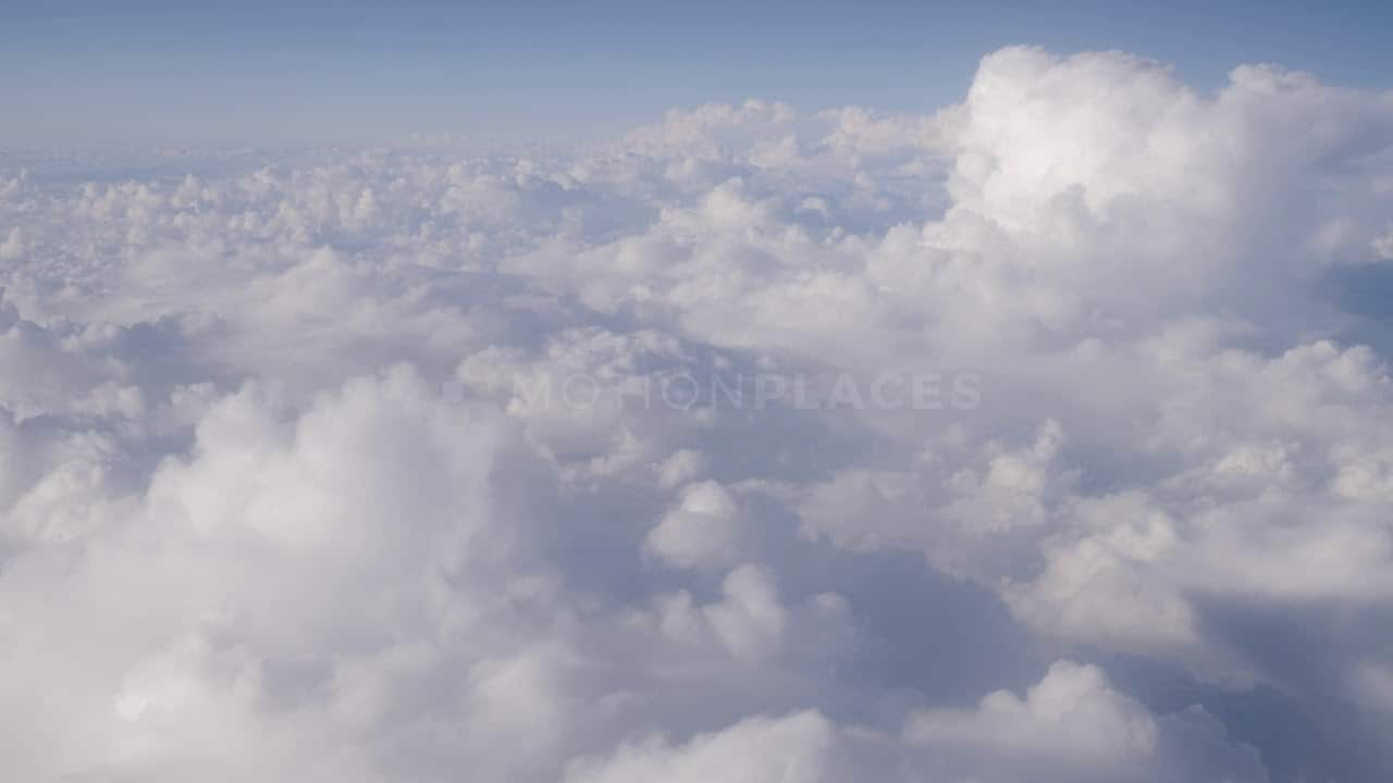 aerial cumulus clouds stock footage motion places