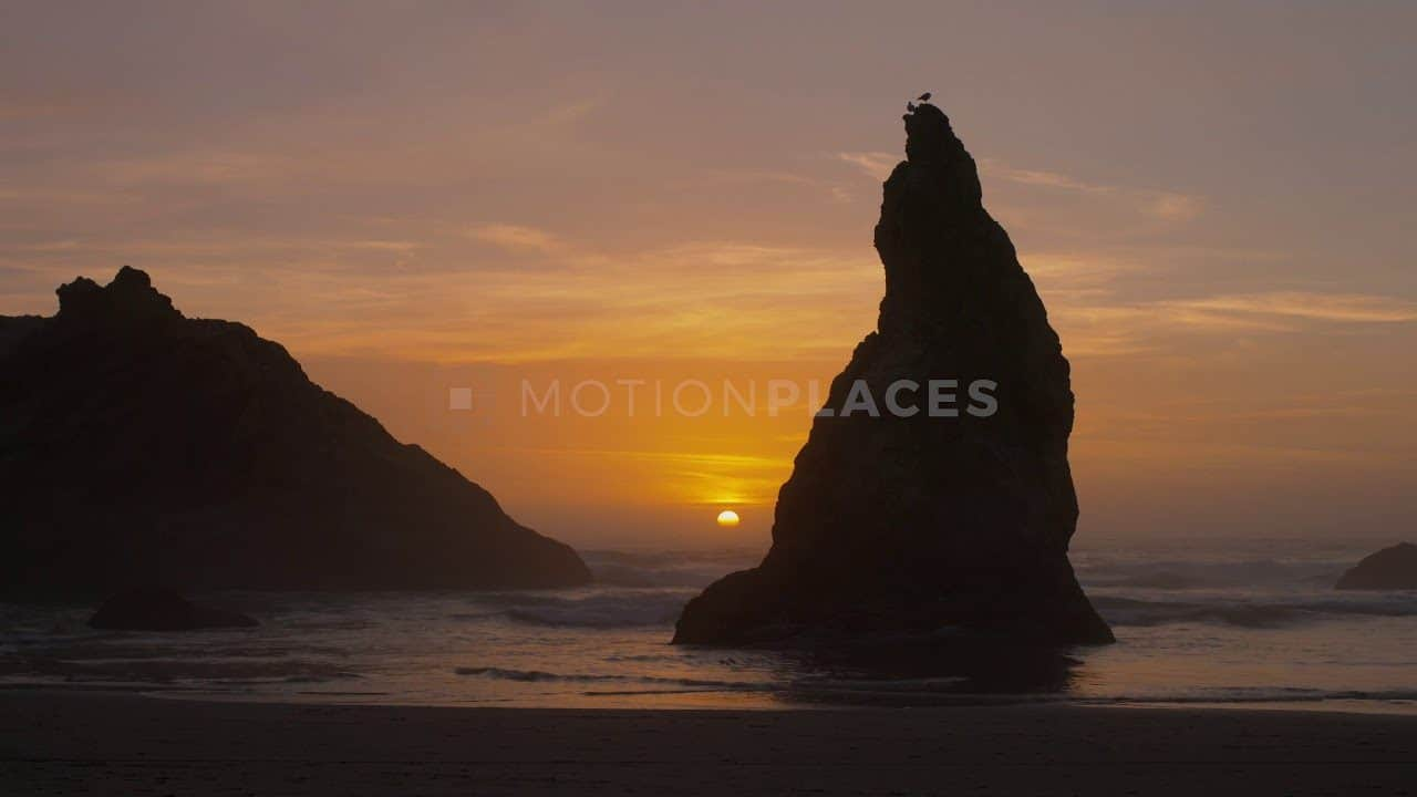 Bandon Beach Sunset Free Stock Footage by Motion Places. Download our free HD video footage, or purchase high quality 4K clips. Royalty Free licensing.