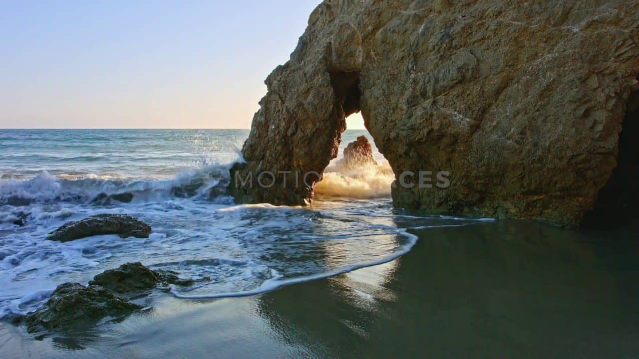 El Matador Beach Malibu Stock Footage