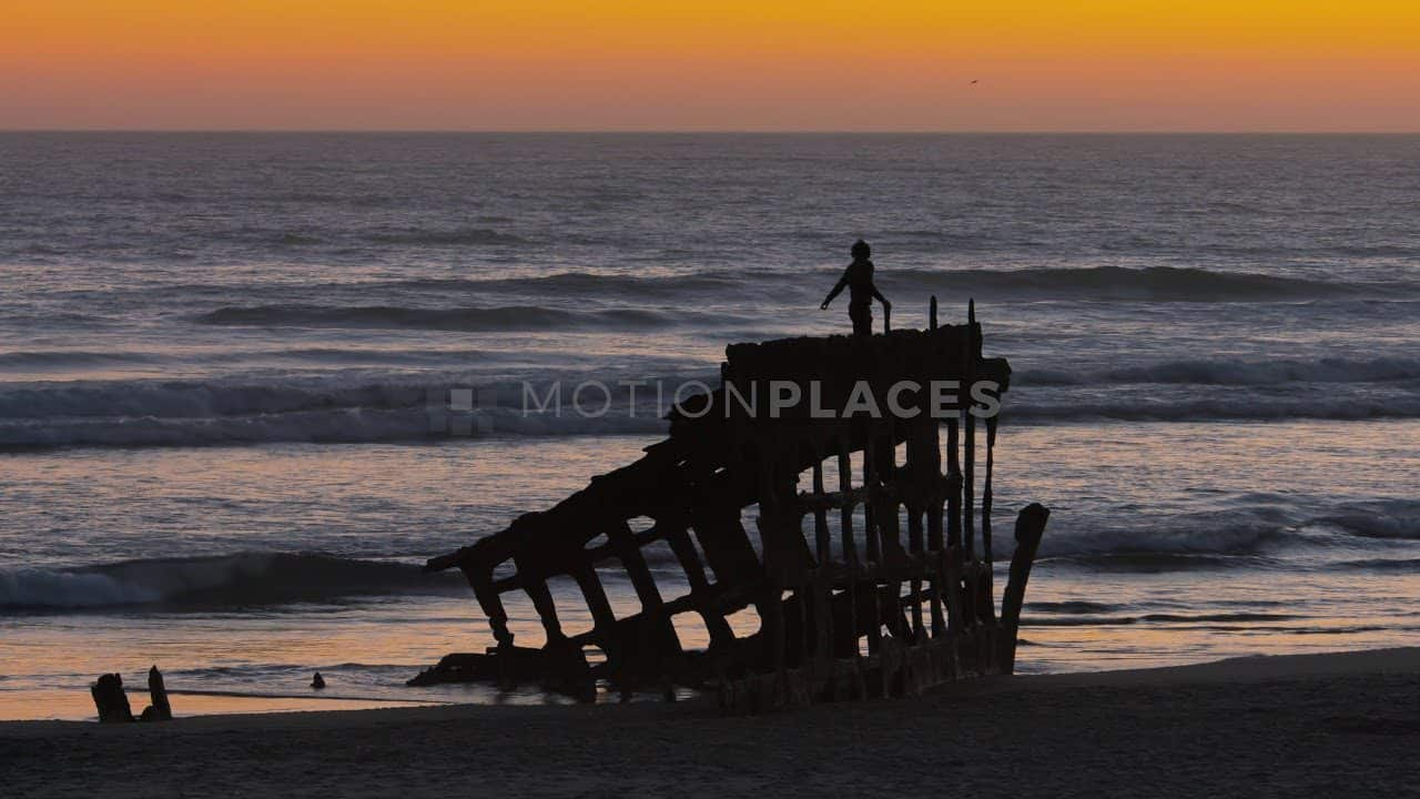 Oregon Coast Shipwreck Sunset Stock Footage by Motion Places. Download our free HD video footage, or purchase high quality 4K clips. Royalty Free licensing.