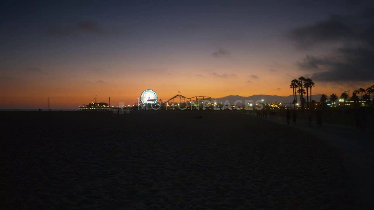 Santa Monica Pier Dusk Free Stock Footage by Motion Places. Download our free HD video footage, or purchase high quality 4K clips. Royalty Free licensing.