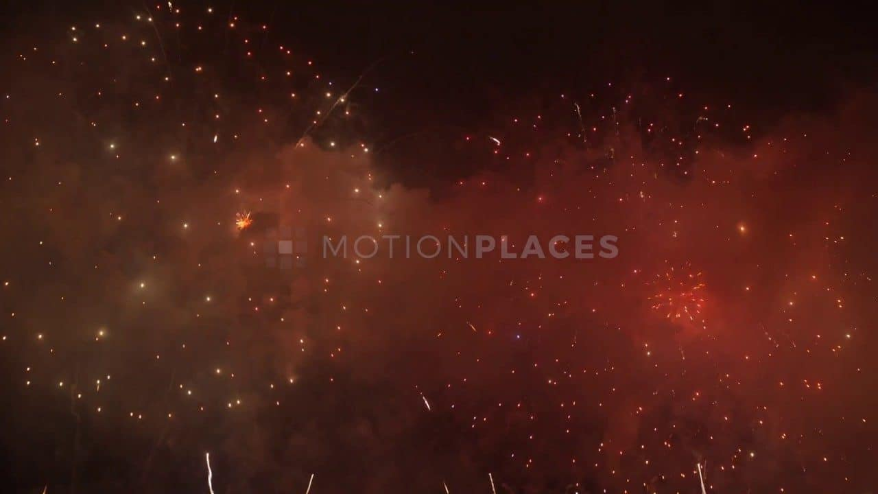 Hong Kong New Year Fireworks Stock Footage