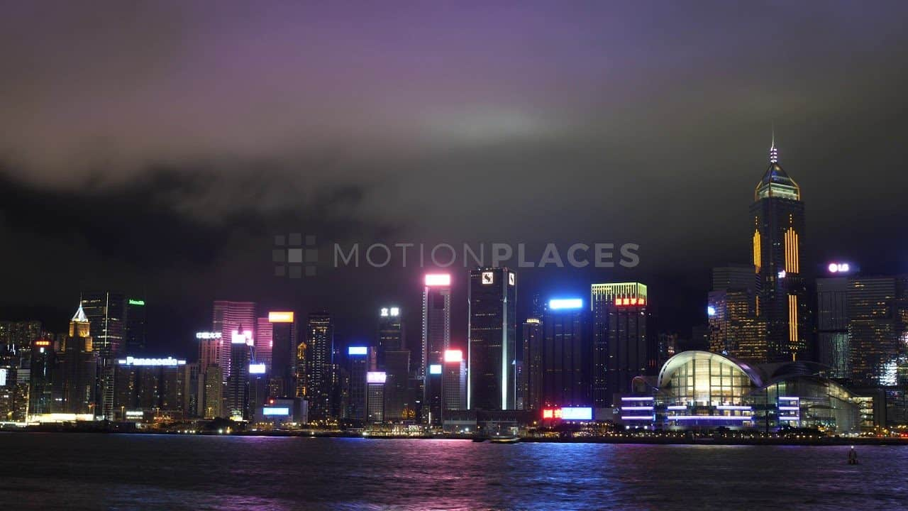 Hong Kong Victoria Harbour Night Timelapse Stock Footage by Motion Places. Download our free HD video footage, or purchase high quality 4K clips. Royalty Free licensing.