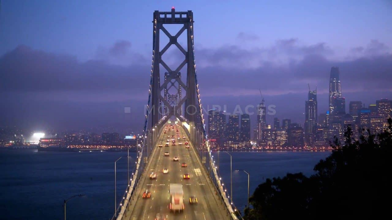 Bay Bridge Night Timelapse Free Stock Footage by Motion Places. Download our free HD video footage, or purchase high quality 4K clips. Royalty Free licensing.