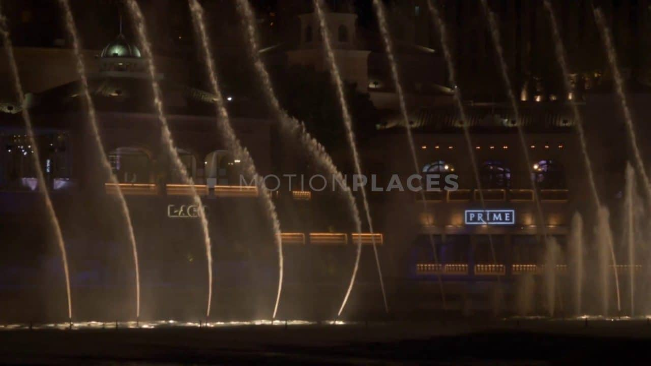 Bellagio Fountain Show Las Vegas Stock Footage by Motion Places. Download our free HD video footage, or purchase high quality 4K clips. Royalty Free licensing.