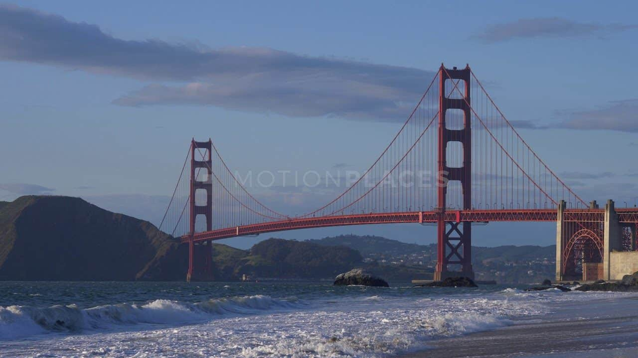 Golden Gate Bridge Baker Beach Free Stock Footage by Motion Places. Download our free HD video footage, or purchase high quality 4K clips. Royalty Free licensing.