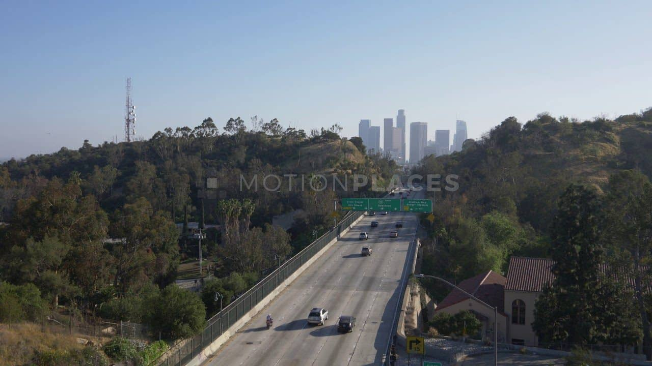 LA Freeway Skyline Free Stock Footage by Motion Places. Download our free HD video footage, or purchase high quality 4K clips. Royalty Free licensing.