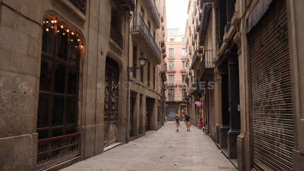 Barcelona Alleyway Free Stock Footage