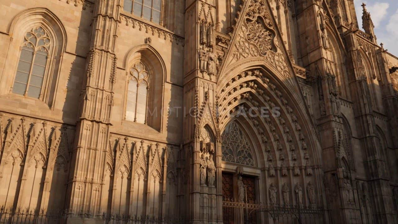 Barcelona Cathedral Golden Hour Stock Footage by Motion Places. Download our free HD video footage, or purchase high quality 4K clips. Royalty Free licensing.