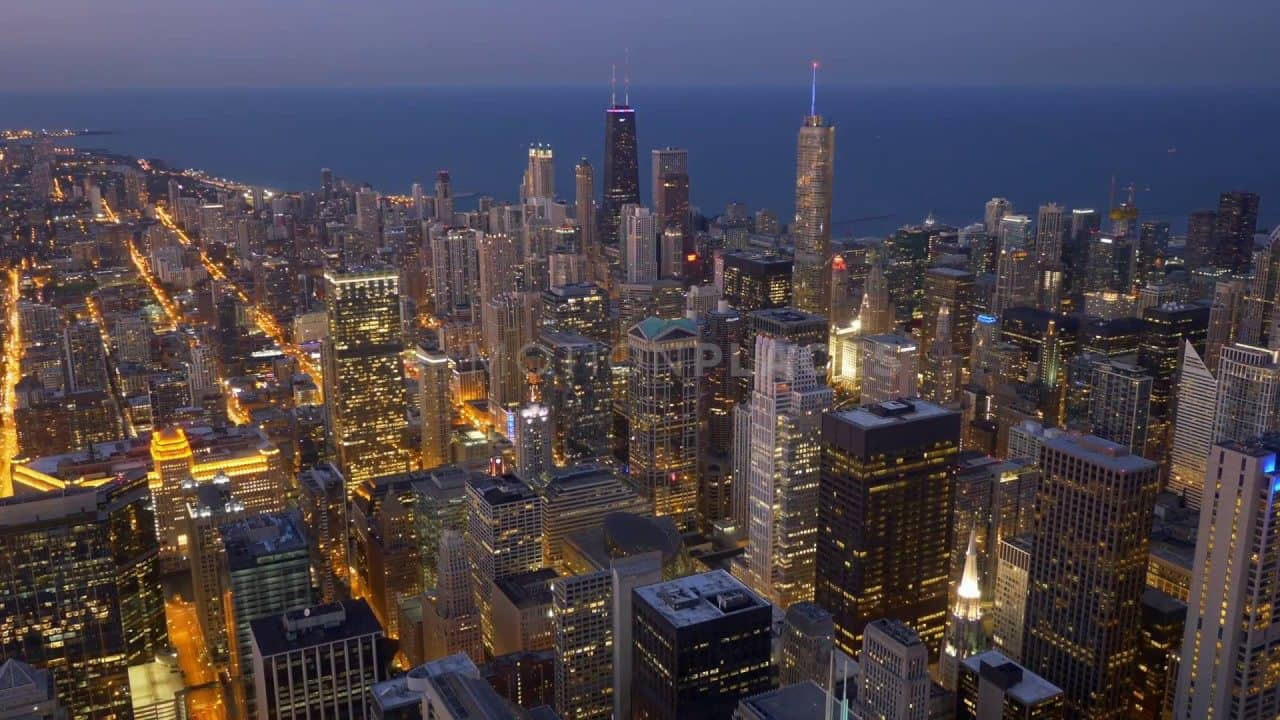 Chicago Dusk Timelapse Free Stock Footage