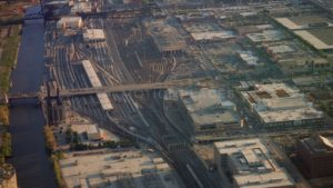 Chicago Train Depot Aerial View Stock Footage by Motion Places. Download our free HD video footage, or purchase high quality 4K clips. Royalty Free licensing.
